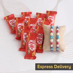 Designer Rakhi with KitKat gif..