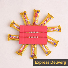 Rakhi Combo with 5 star chocol..