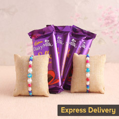 Rakhi with Silk chocolates