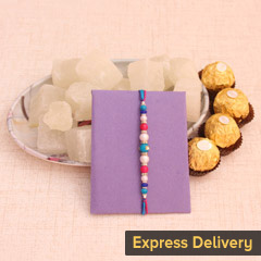 Rakhi with Chocolates and Peth..
