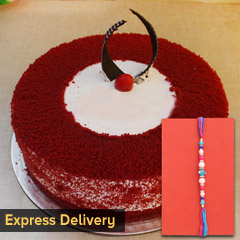 Lovely Rakhi and cake combo