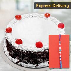Delicious Cake with Rakhi