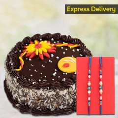 Delectable Rakhi Chocolate Cak..