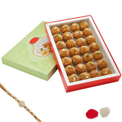 Rakhi with Haldiram Laddu