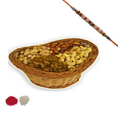 Rakhi with Big basket of Dry F..