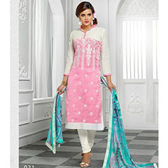 Cotton Embroidered Suit FB-508..