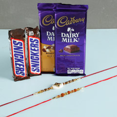 Designer Rakhis With Snickers ..