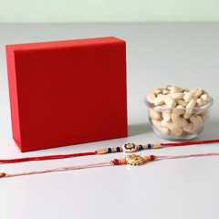 Cashews With Set Of 2 Rakhis