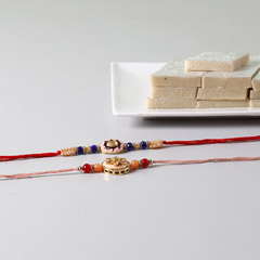 Beads Embellished Rakhis With ..