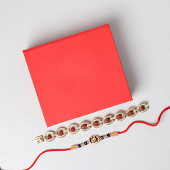 Fancy Rakhi Set In Red Box
