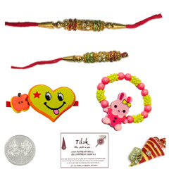Colorful Beads Family Set with..