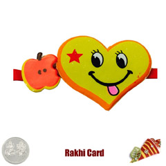 Smiley Rakhi with Free Silver ..