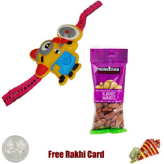 Kids Rakhi with 50 grams Almon..