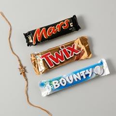 Swastik Rakhi Set with Chocola..