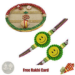 Rakhi Thali with 2 Kids Rakhi ..