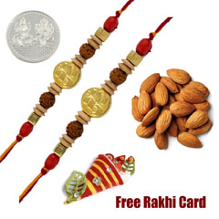 Set of 2 Om Rakhis with 50 gra..