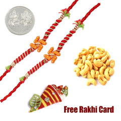 Set of 2 Swastik Rakhis with 5..