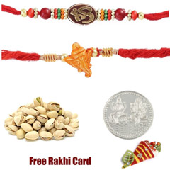 Set of 2 Mauli Rakhis with 50 ..