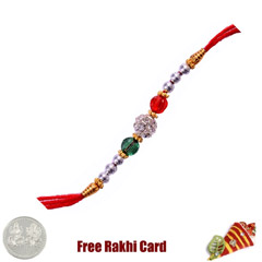 Three Color Fancy Rakhi with F..
