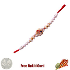 Religious Jewelled Om Rakhi wi..