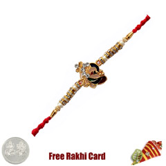 Peacock Rakhi with Free Silver..