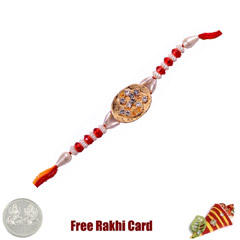 Om Gold Rakhi with Free Silver..