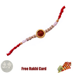 Ethnic Rudraksh Rakhi with Fre..