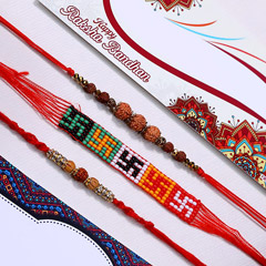 Holy Three Rakhi Set- FOR NEW ..