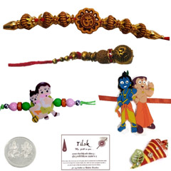 Om Beads Family Set with a Fre..