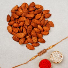 Brother Rakhi with Almond Nuts..