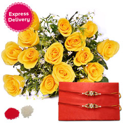 Yellow Rakhi Surprise