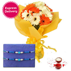 Gerberas with Rakhi