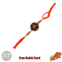Traditional Swastik Rakhi with..