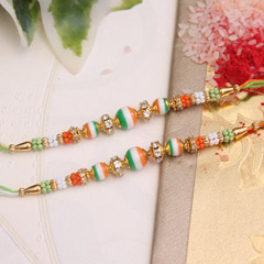 Trianga color Beaded Rakhis