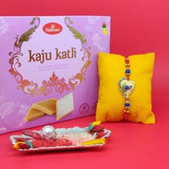 Designer Colorful Rakhi N Kaju..