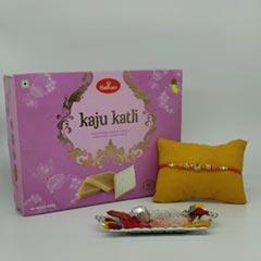 Beautuful Pearl Thread Rakhi w..