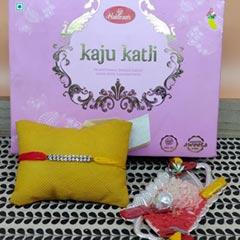 Colorful Glitring Thread Rakhi..