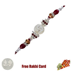 Striking Swastik Rakhi with Fr..