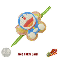 Doremon Rakhi with Free Silver..