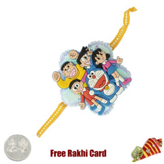 Doremon Group Rakhi with a Fre..