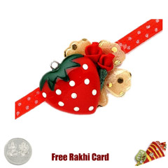 Red Heart Rakhi with a Free Si..