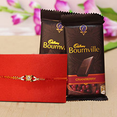 Rakhi with Cranberry Bouenvill..