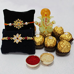 Chocolaty Rakhi with Ganesha