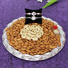 Thali of Almonds and Cashews