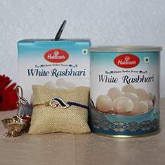 White Rasbhari Sweet with Rakh..