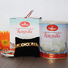 Tempting Rasgulla with Rakhi