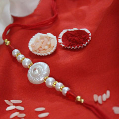 White Pearly Rakhi