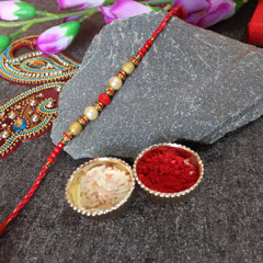 Beaded Pearly Rakhi