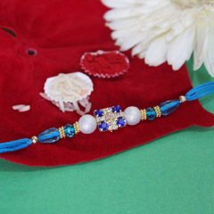 Blue and White Rakhi