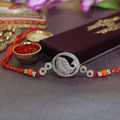 Dazzling Shell Shaped Rakhi